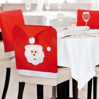 Santa Face Dining Chair Covers